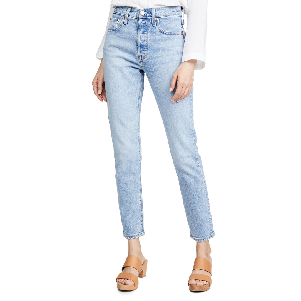 Lvs mom fit stretchable high rise sky blue women jeans (4473810157616)