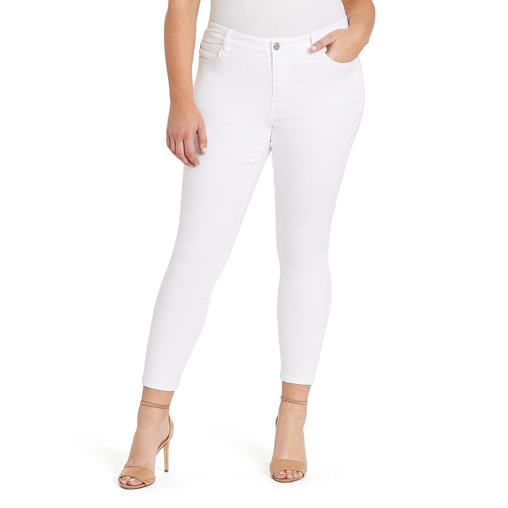 skiny girl mid rise stretchable white skinny fit jeans