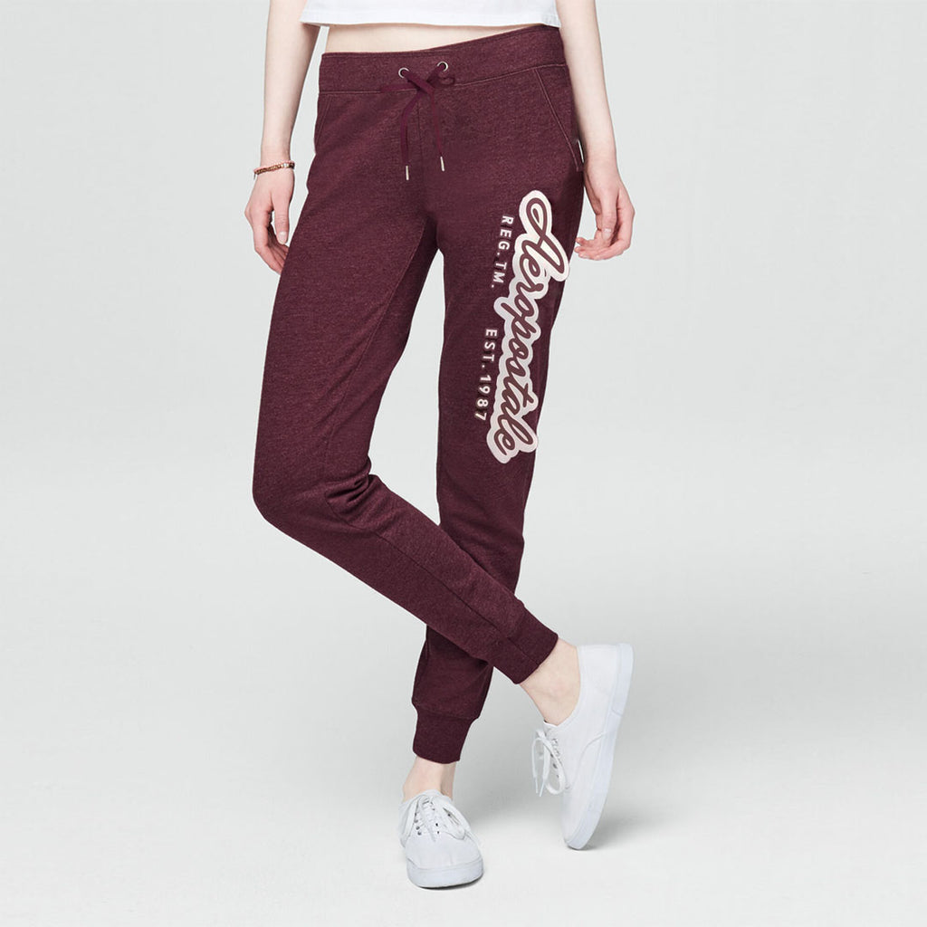 eropstl women maroon slim fit sweat jogger pant