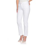 stokar high rise stretchable white tapered fit jeans