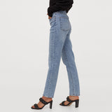 Hm Mom fit High rise stretchable light blue ladies jeans