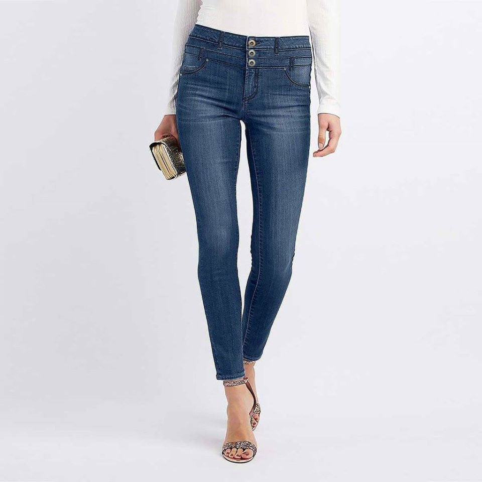 Brand e-dc high rise slim fit stretchable jeans (4433658773552)