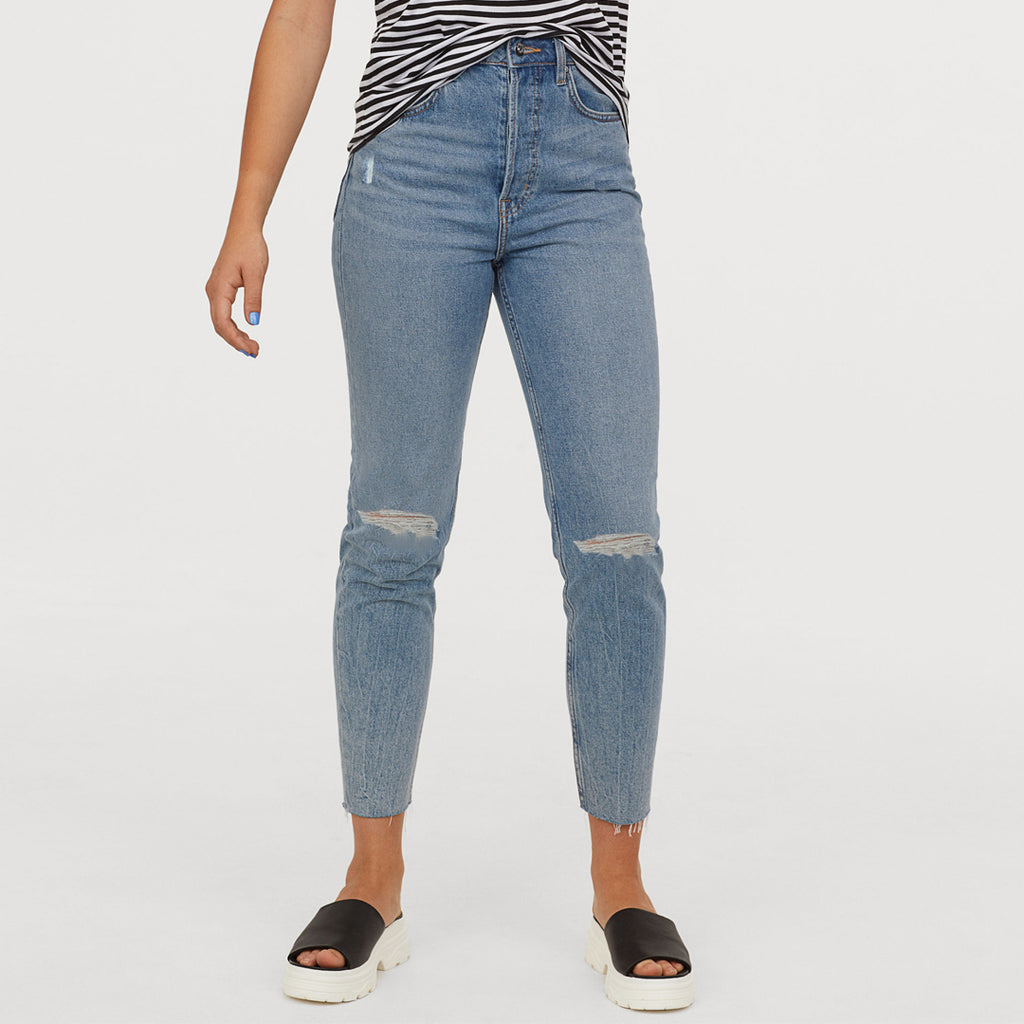 Brand HM skinny fit knees ripped jeans (3884285952048)