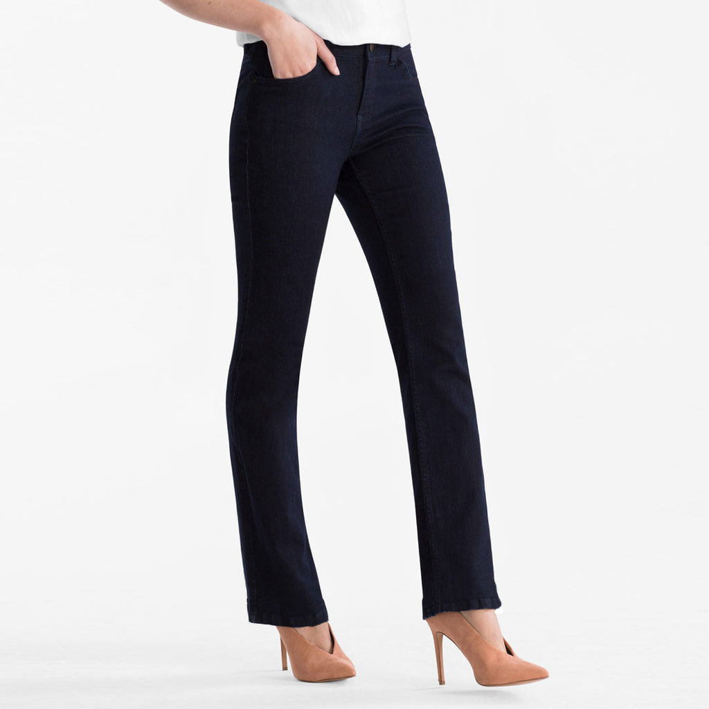 brand c-a navy blue bootcut stretchable ladies jeans