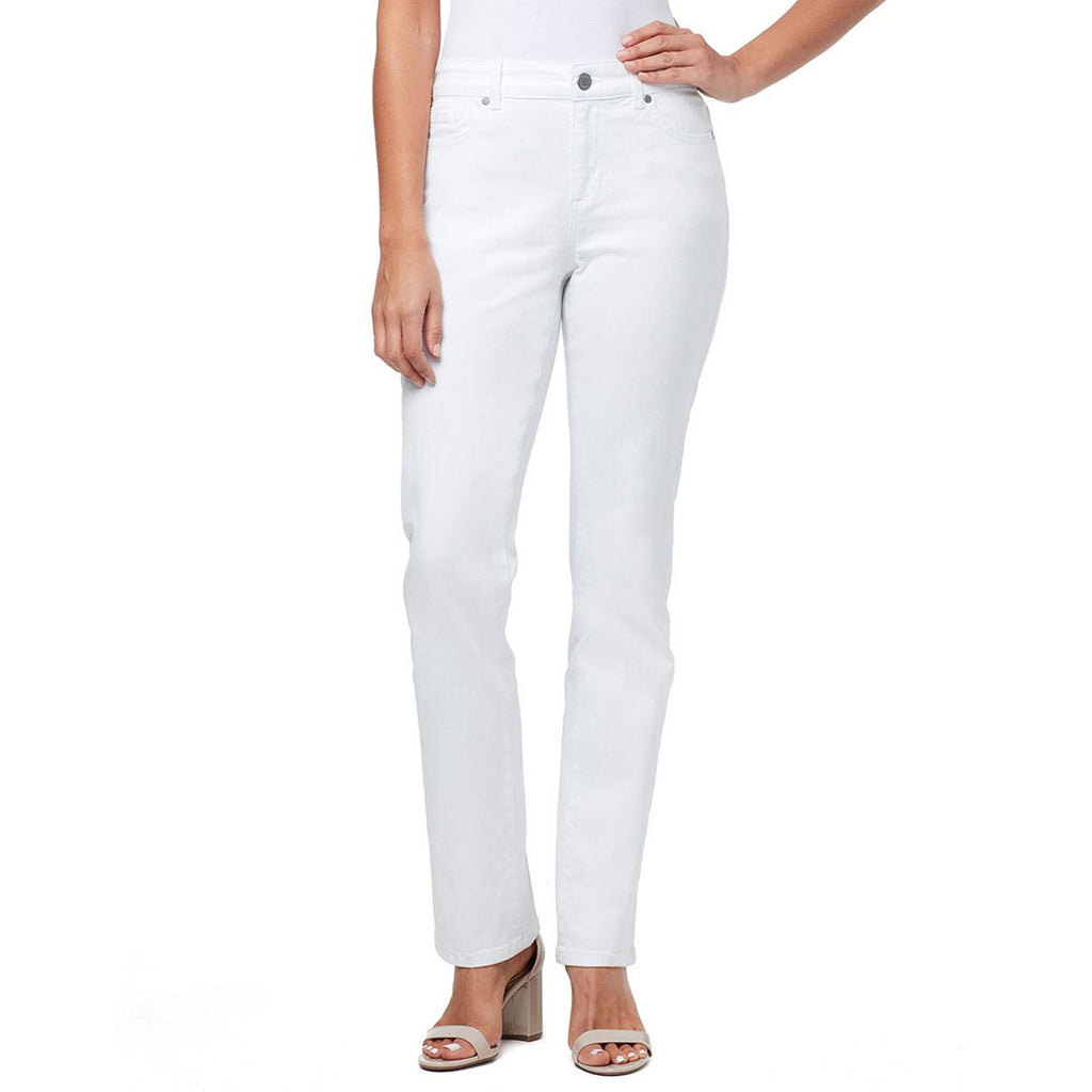 bndlino women wide leg stretchable white jeans