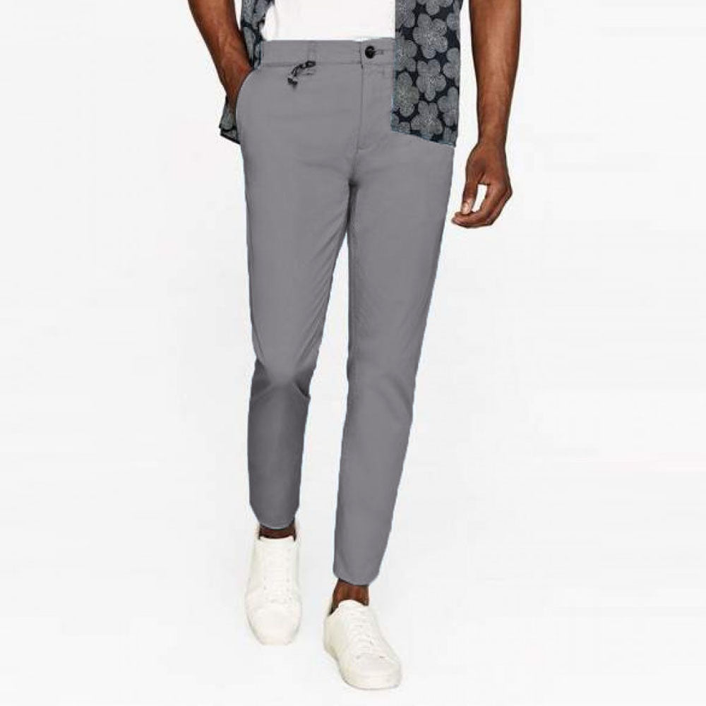 Brand PC Grey slim fit stretchable Cotton chino (3665554571312)