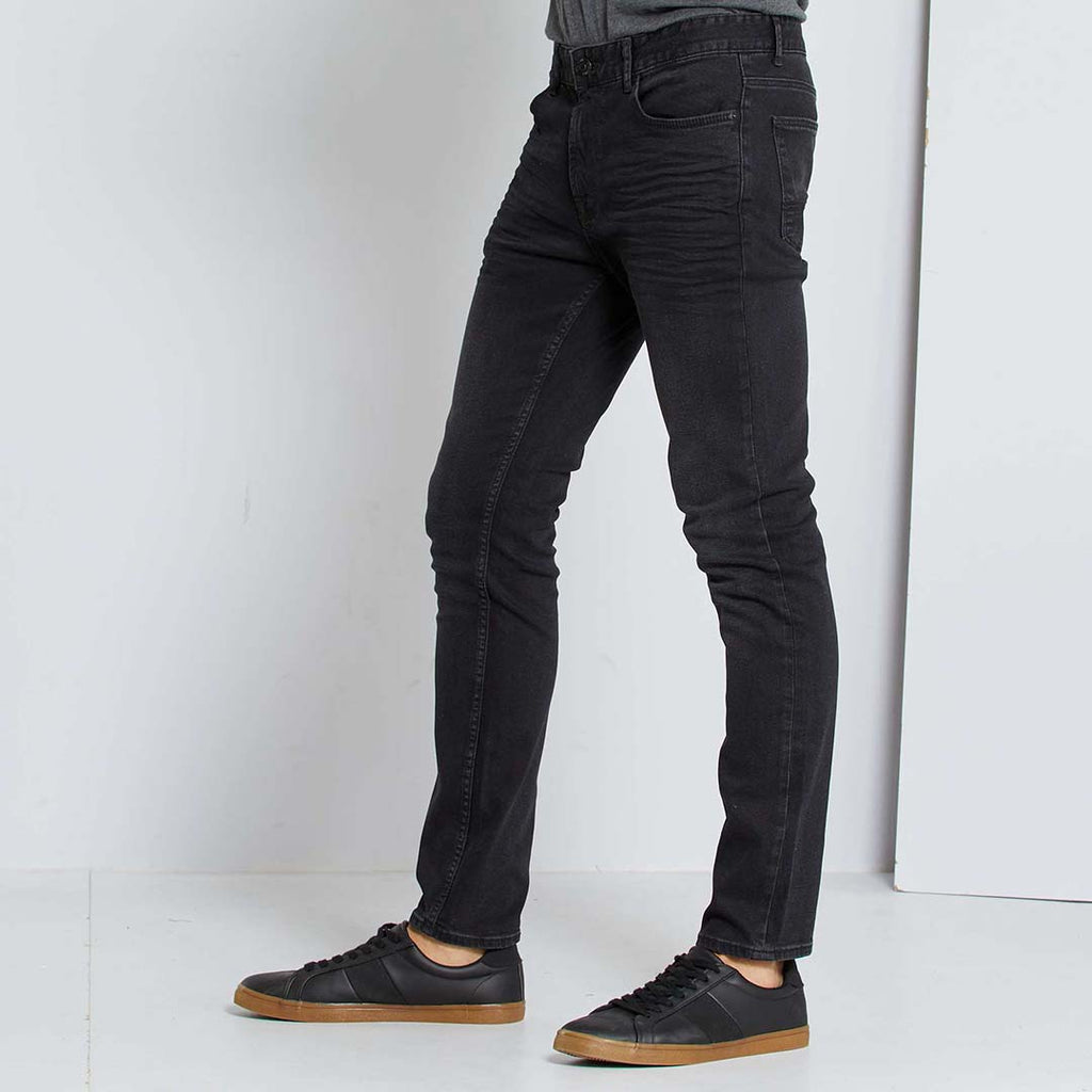 Brand K!abi slim fit stretchable black mens jeans