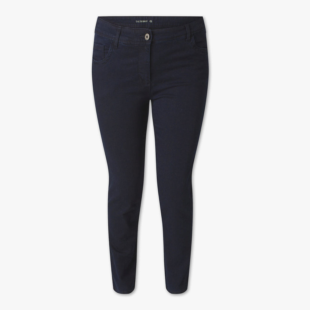 brand ca navy blue slim fit stretchable women jeans (4393693610032)