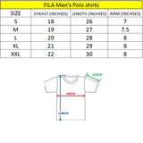 F!la black mens polo shirt