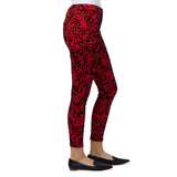 santury standard rise stretchable leopards dream red skinny jeans