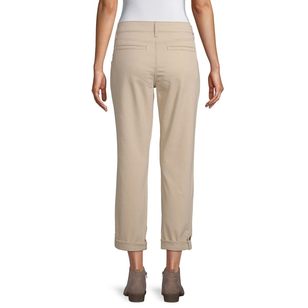 st jhn bay mid rise stretchable skin straight cotton pant