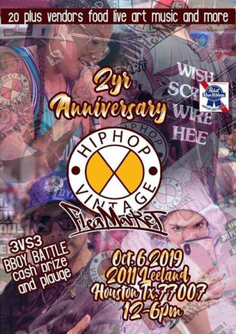 Hip Hop Vintage Flea Market Two Year Anniversary