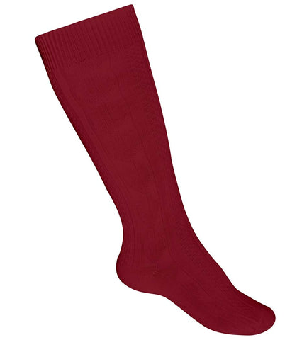 Girls Heavyweight Knee Socks Maroon