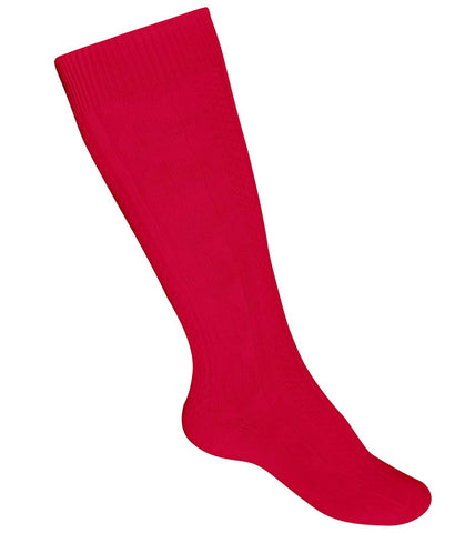 Girls Heavyweight Knee Socks Red