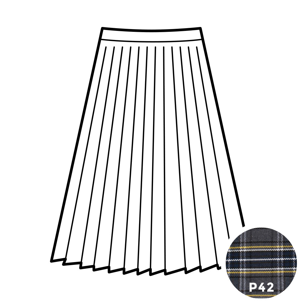 Knife Pleat Skirt - Plaid #42