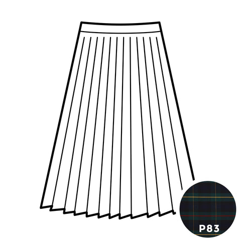 Knife Pleat Skirt - Plaid #83