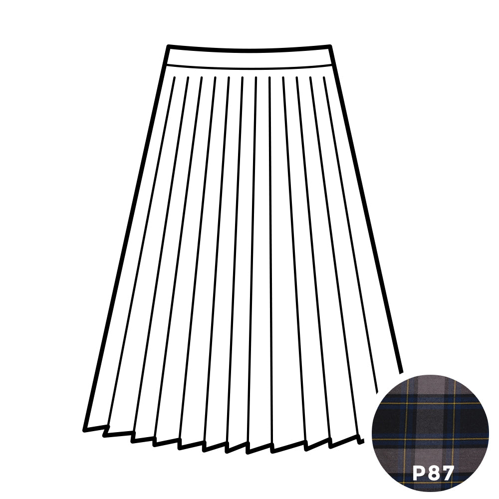 Knife Pleat Skirt - Plaid #87