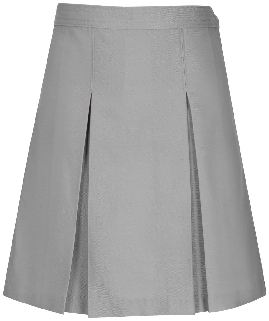 Kick Pleat Skirt - Charter School of Excellence - Gray