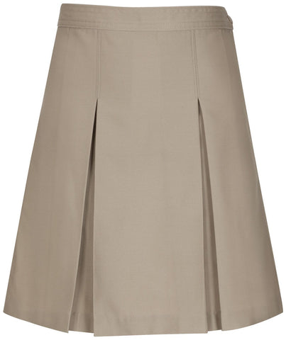 Kick Pleat Skirt - Inwood High - Khaki