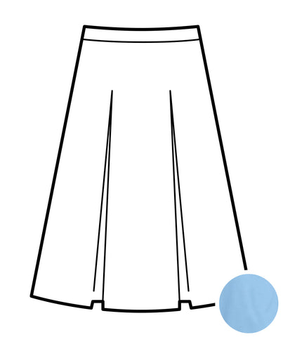 Kick Pleat Skirt - Light Blue