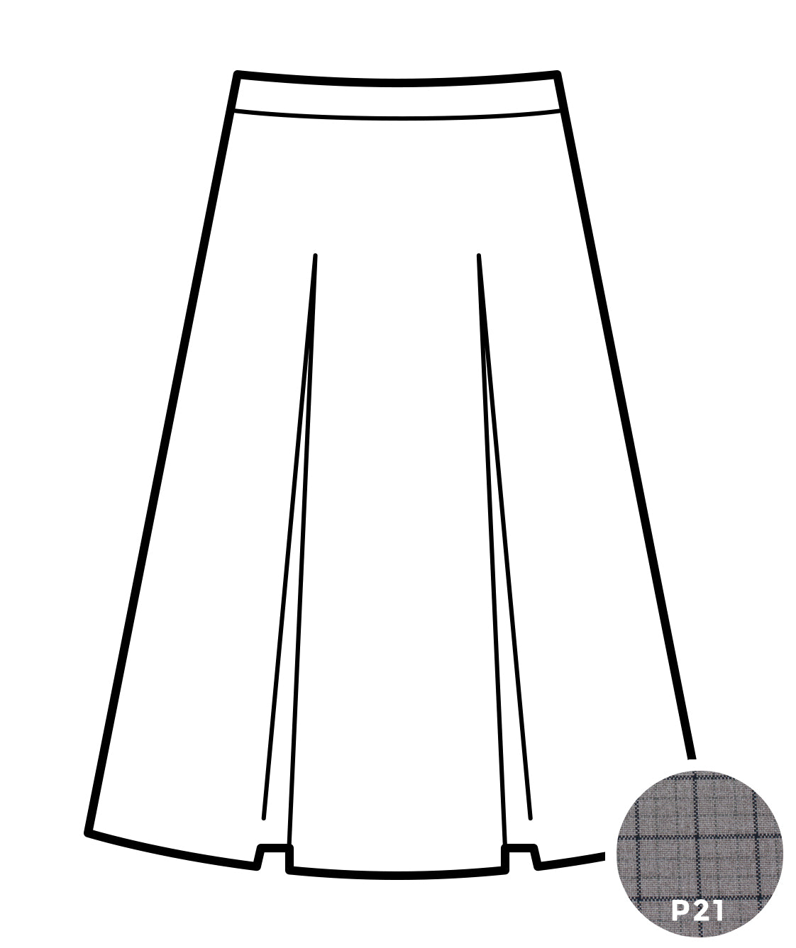 Kick Pleat Skirt - Plaid #21