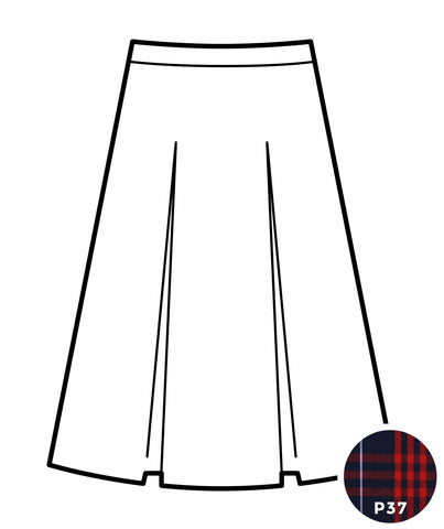 Kick Pleat Skirt - Plaid #37