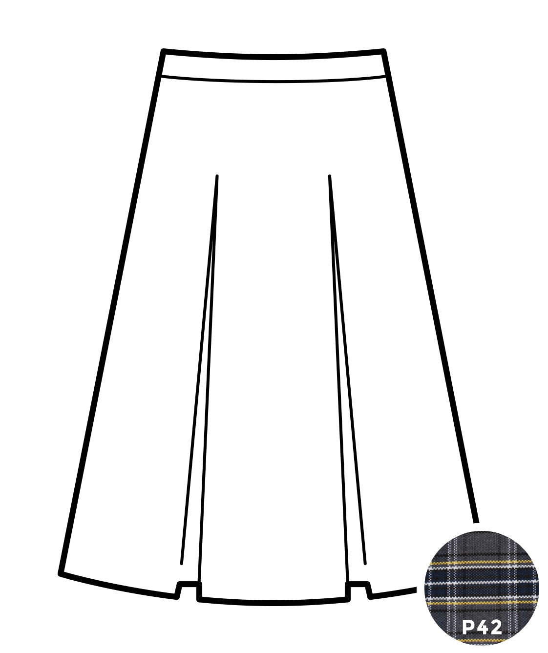 Kick Pleat Skirt - Plaid #42