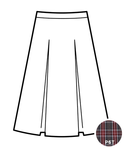 Kick Pleat Skirt - Plaid #6T