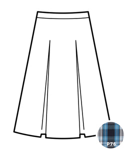 Kick Pleat Skirt - Plaid #76