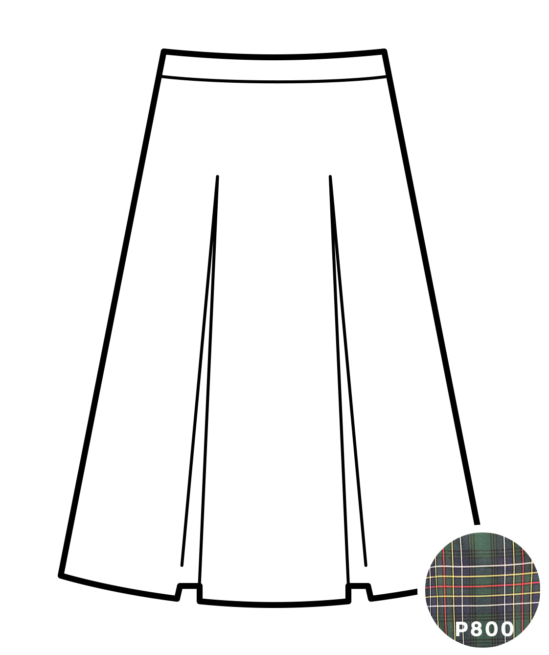Kick Pleat Skirt - Sacred Heart High - Plaid #800