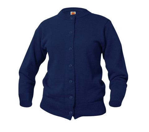 Crewneck Cardigan Navy
