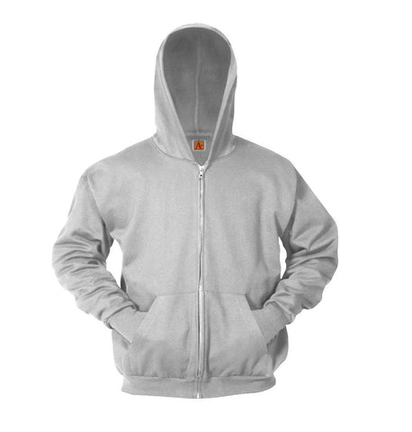 Full Zip Hooded Sweatshirt - Grey