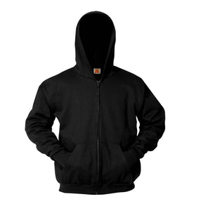Full Zip Hooded Sweatshirt - Black