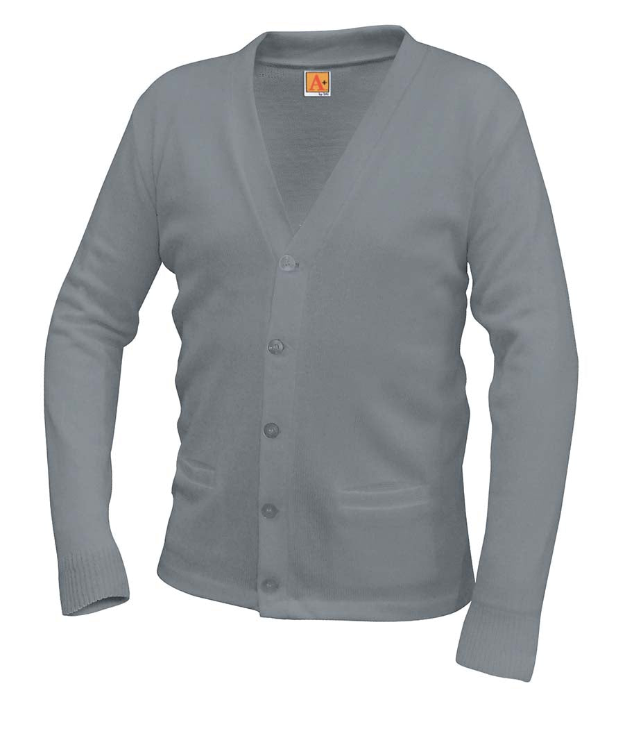 V-Neck Cardigan - Amani - Gray