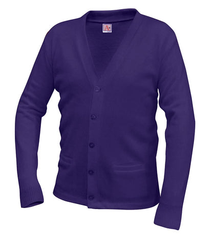 V-Neck Cardigan - Amani - Purple