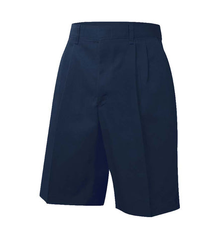 Pleated Twill Short Navy