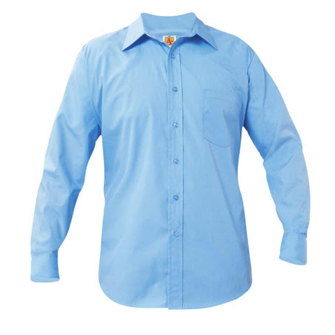 Boys Long Sleeve Dress Shirt Blue