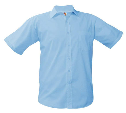 Boys Short Sleeve Dress Shirt Blue