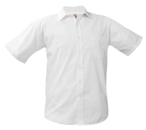Boys Short Sleeve Dress Shirt White