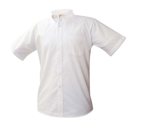 Boys Short Sleeve Oxford Shirt White