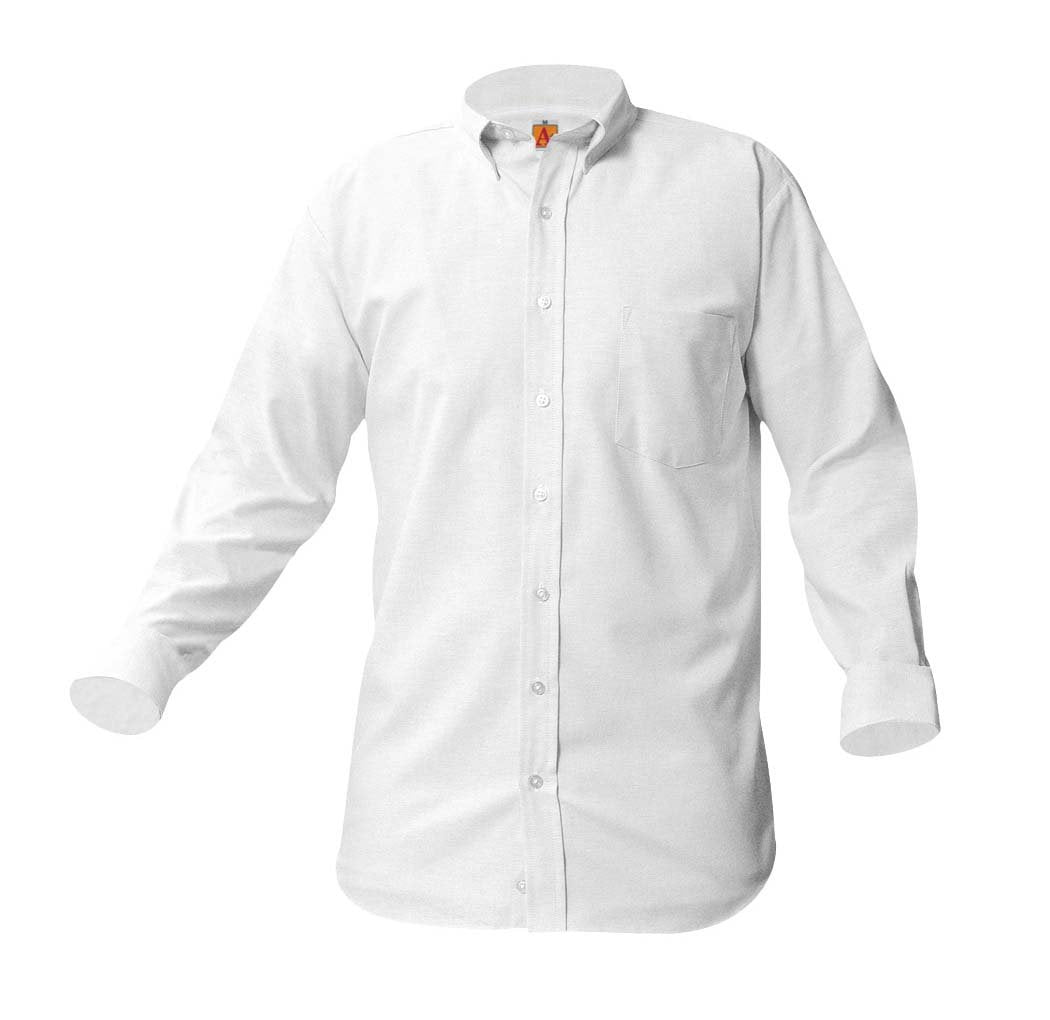 Boys Long Sleeve Oxford Shirt White