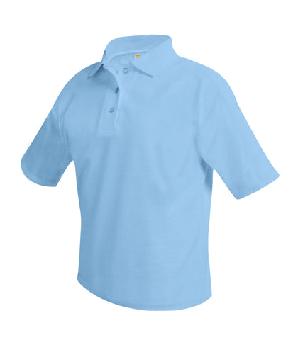 Short Sleeve Polo Shirt Powder Blue