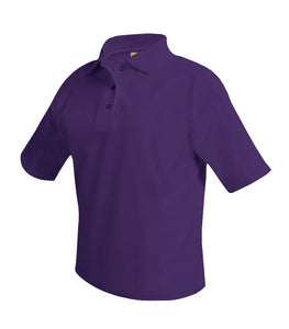 Short Sleeve Polo Shirt - Amani - Purple