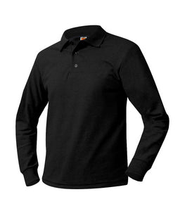 Dewitt Long Sleeve Polo Shirt Black