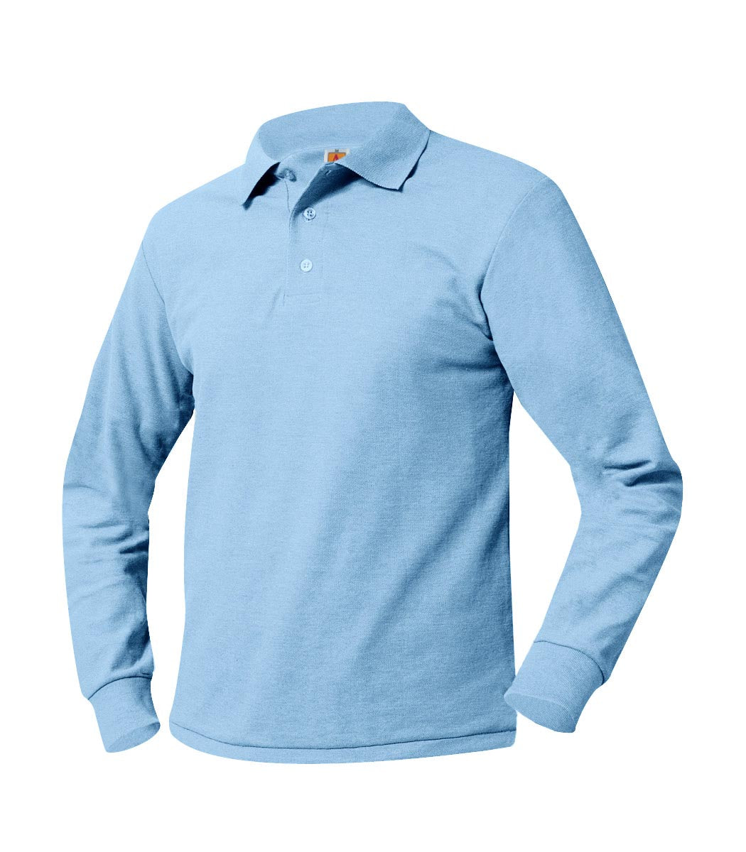 ISLA Long Sleeve Polo Shirt Powder Blue