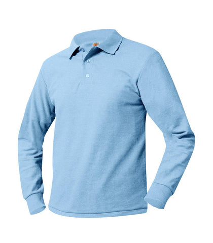 Long Sleeve Polo Shirt Powder Blue