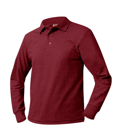 Long Sleeve Polo Shirt Maroon