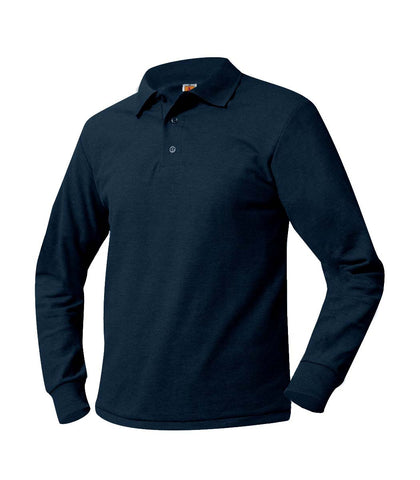 Washington Heights Long Sleeve Polo Shirt Navy