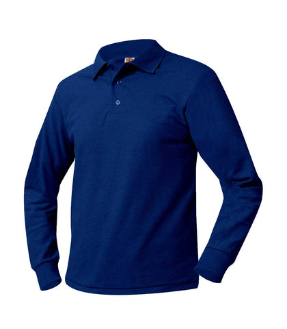 Inwood Long Sleeve Polo Shirt Royal Blue