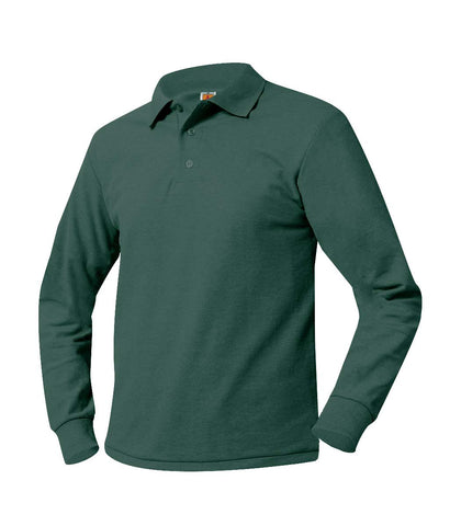 St. Barnabas Long Sleeve Polo Shirt Green